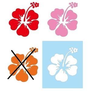 メール便可/ハワイアンステッカー/レイマイカイオリジナル/全4色  ハイビスカス leimaikai-hawaii