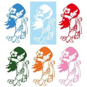 メール便可/ハワイアンステッカー/レイマイカイオリジナル/全6色  ケイキGirl leimaikai-hawaii