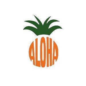 メール便可/ハワイアンステッカー/レイマイカイオリジナル/パイナップル leimaikai-hawaii