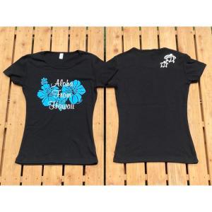 ハイビスカス/半袖Tシャツ M・L・XL/フラ・ストレッチ・フラダンス・ハワイアン・レディース・レイ・レッスン  leimaikai-hawaii