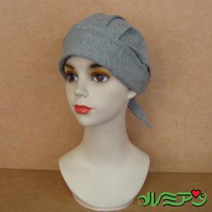 バンダナ帽■医療用対応ウィッグ・かつら■グレー 上質コットン|lemienshop