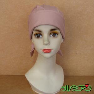 バンダナ帽■医療用対応ウィッグ・かつら■モスピンク 上質コットン|lemienshop