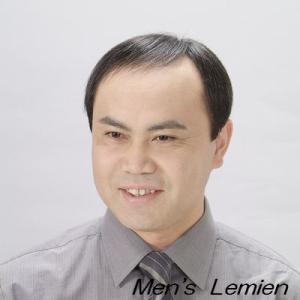 男性用 フロント 部分 かつら (人毛100%) 少量増毛 DX200|lemienshop