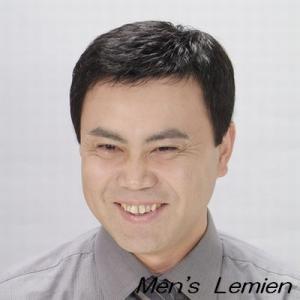 男性用 部分 かつら 左ルーズパート (人毛100%) みだれ防止 パーマ仕上げ DX70|lemienshop