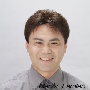 男性用 部分 かつら センターパート (人毛100%) ナチュラルストレート仕上げ|lemienshop