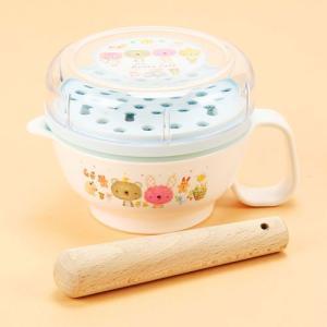 アナノカフェ 離乳食調理セット サックス●約14×10×7.5cm ●おろし器・フタ:AS樹脂 すり...