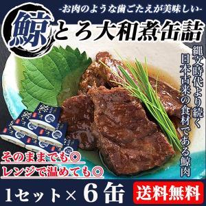 鯨 缶詰 大和煮 1セット6缶 くじら クジラ肉 鯨肉 鯨大和煮缶詰 缶詰|lemonno-ki