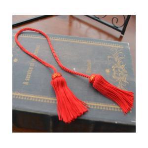 タッセル 房 赤 髪飾り 和装 袴 振袖 成人式 結婚式 卒業式 着物  ヘッドドレス ウェディング...