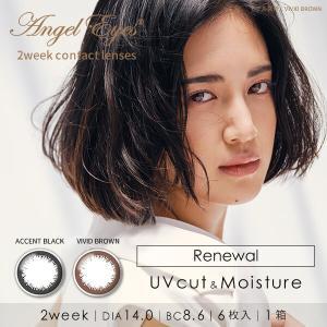 カラコン 2ウィーク 6枚入り 1箱 エンジェルアイズ2week カラーコンタクト Angel Eyes 度あり 度なし 度入り 度付き|lens-deli