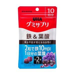 UHA味覚糖 グミサプリ 鉄&葉酸 10日分 ×1個