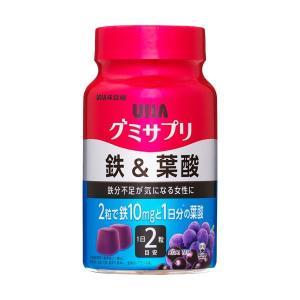 UHA味覚糖 グミサプリ 鉄&葉酸 30日分 ×1個