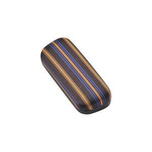 メガネケース ストライプ メタルハード 2447-02 ブラウン|lensgallerys
