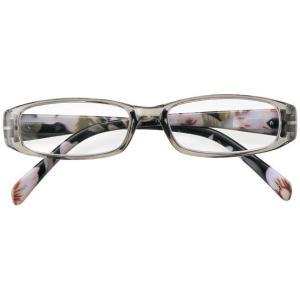 老眼鏡 リーディンググラス シニアグラス クリアスモーク 花柄 4510|lensgallerys