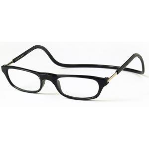 老眼鏡 クリックリーダー ブラック (BK)|lensgallerys