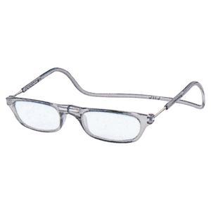 老眼鏡 クリックリーダー クリアグレー (GR)|lensgallerys