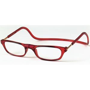 老眼鏡 クリックリーダー レッド (RE)|lensgallerys