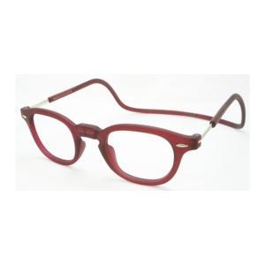 老眼鏡 クリック ヴィンテージ ボルドー|lensgallerys