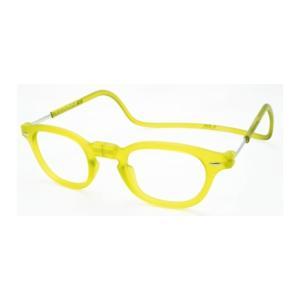 老眼鏡 クリック ヴィンテージ レモンライム|lensgallerys