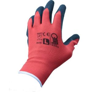 特徴 ポリエステル素材の手袋の手のひら面に天然ゴムをコーティングした、薄手でフィット性が高い手袋です...