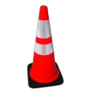 トラフィックコーン(カラーコーン,レヴォリューションコーン,レボリューションコーン) 赤/白 710mm 3.5kg|leojp