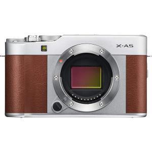 FUJIFILM 富士フイルム X-A5 ボディ 高画質 ミラーレス 一眼 カメラ かわいい ブラウ...