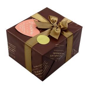 [大切な人へ贈る]バレンタイン用ギフトラッピング No.24×チョコレイトディスコ×ライトブラウンリボンの画像