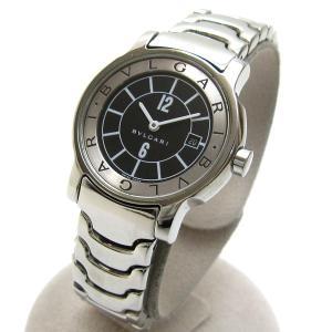 BVLGARI ブルガリ ST29S ソロテンポ ブレス 黒文字盤 watch 婦人 時計|leonshop