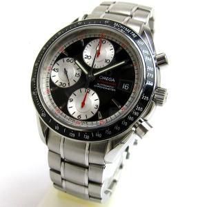 オメガ 3210-51 スピードマスターデイト 黒 シルバー 文字盤 メンズ 時計 BOX付 OMEGA|leonshop