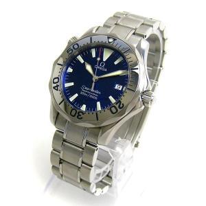 オメガ 2562-80 シーマスター300 プロダイバーサファイヤメタリック文字盤 メンズ 時計 BOXつき 美品 OMEGA watch プロフェッショナル|leonshop