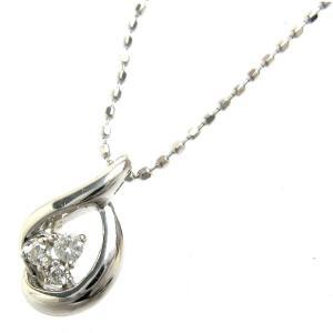 4℃ ネックレス K18WG ダイヤモンド ティアドロップ ペンダント 婦人 レディース ダイヤ leonshop