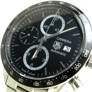 db025c592b タグホイヤー 時計 カレラ クロノ 黒文字盤 メンズ CV2010 タグホイヤー 中古