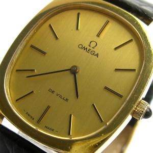 オメガ 時計 デビル メンズ トノー ゴールド 手巻き 111.0131 保証書 BOXつき OMEGA DeVille デヴィル デ・ビル デ・ヴィル|leonshop