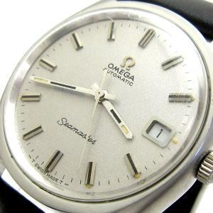 オメガ 時計 シーマスター メンズ オート シルバー文字盤 166.067 OMEGA アンティーク レア|leonshop