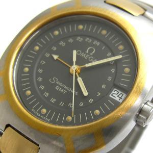 オメガ 時計 シーマスターポラリス GMT メンズ K18 ゴールドコンビ BOX レア|leonshop