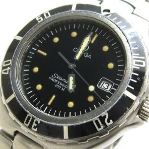 オメガ 時計 シーマスター200 メンズ 黒ベゼル 黒文字盤 BOX OMEGA プロフェッショナル レア|leonshop