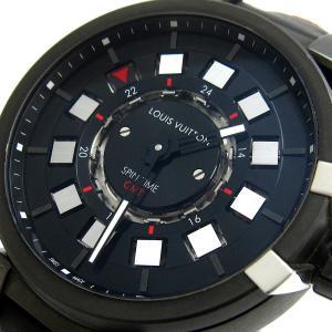 ルイ・ヴィトン 時計 タンブール エボリューション スピンタイムGMT メンズ オート Q1AG0 BOX 保証書 ルイヴィトン オトマティック レア|leonshop