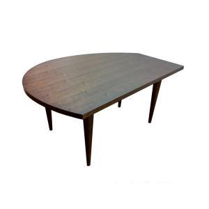 変形 ダイニングテーブル W155 木天板 ウォルナット色 木脚 日本製 オリジナル |lepice|02