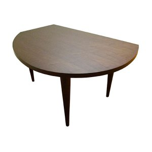 変形 ダイニングテーブル W155 木天板 ウォルナット色 木脚 日本製 オリジナル 送料無料 |lepice|03
