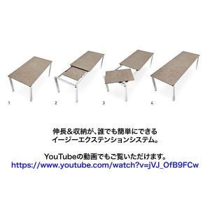 伸張式 ダイニングテーブル カリガリス バロン グレイウッド×マットグレー|lepice|05