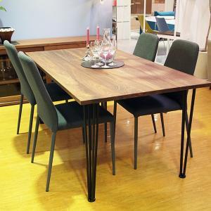 オーダー ダイニングテーブル W200   板厚2.5cm ウォルナット無垢材  マットブラック脚 日本製  L'EPICE オリジナル|lepice|05