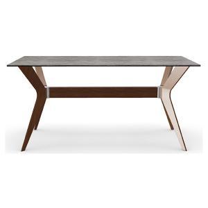 ダイニングテーブル カリガリス トウキョウ 160cm×90cm セメント(セラミック)天板×ウォルナット脚 送料無料 ポイント10倍|lepice|02