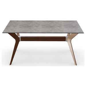 ダイニングテーブル カリガリス トウキョウ 160cm×90cm セメント(セラミック)天板×ウォルナット脚 送料無料 ポイント10倍|lepice|03