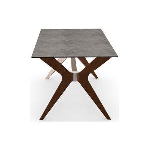 カリガリス トウキョウ TOKYO ダイニングテーブル 送料無料 160cm×90cm セメント(セラミック)天板×ウォルナット脚|lepice|04