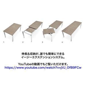 伸長式 ダイニングテーブル コヌビア バロン カリガリス リードグレイ(セラミック)天板×マットホワイト(スチール)脚 送料無料 ポイント10倍|lepice|02