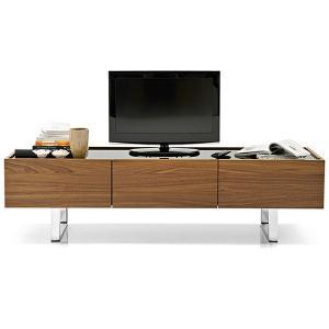 モダン テレビボード 180×50×49cm イタリア カリガリス ホリゾン ガラストップ ウォルナット|lepice|02