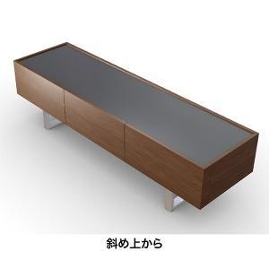 モダン テレビボード 180×50×49cm イタリア カリガリス ホリゾン ガラストップ ウォルナット|lepice|03