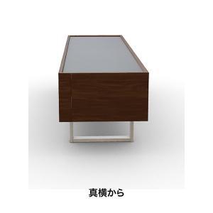 モダン テレビボード 180×50×49cm イタリア カリガリス ホリゾン ガラストップ ウォルナット|lepice|04