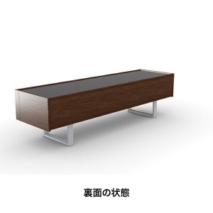 カリガリス テレビボード ホリゾン HORIZON  W180cm ガラストップ×ウォルナット 送料無料 lepice 06