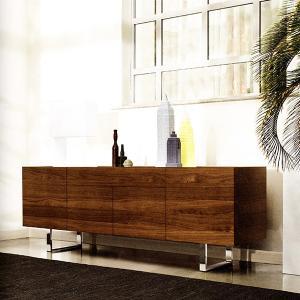 サイドボード イタリア カリガリス ホリゾン 210cm×50cm×74cm ウォルナット ガラストップ |lepice|02