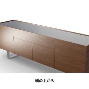 カリガリス サイドボード ホリゾン HORIZON   ガラストップ×ウォルナット W180cm  送料無料 |lepice|03